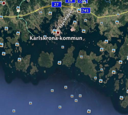 2017-09-22/24: 3 dage med Praktisk Navigation,den Svenske skærgård omkring Karlskrona / 3-days nav.